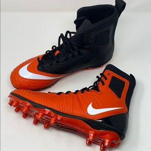 Nike savage force football cleat black orange